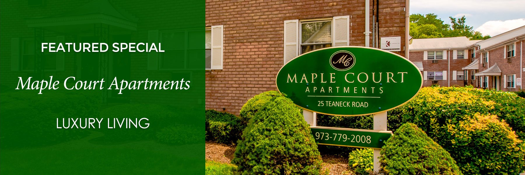 Maple Court Apartments For Rent in Ridgefield Park, NJ Specials